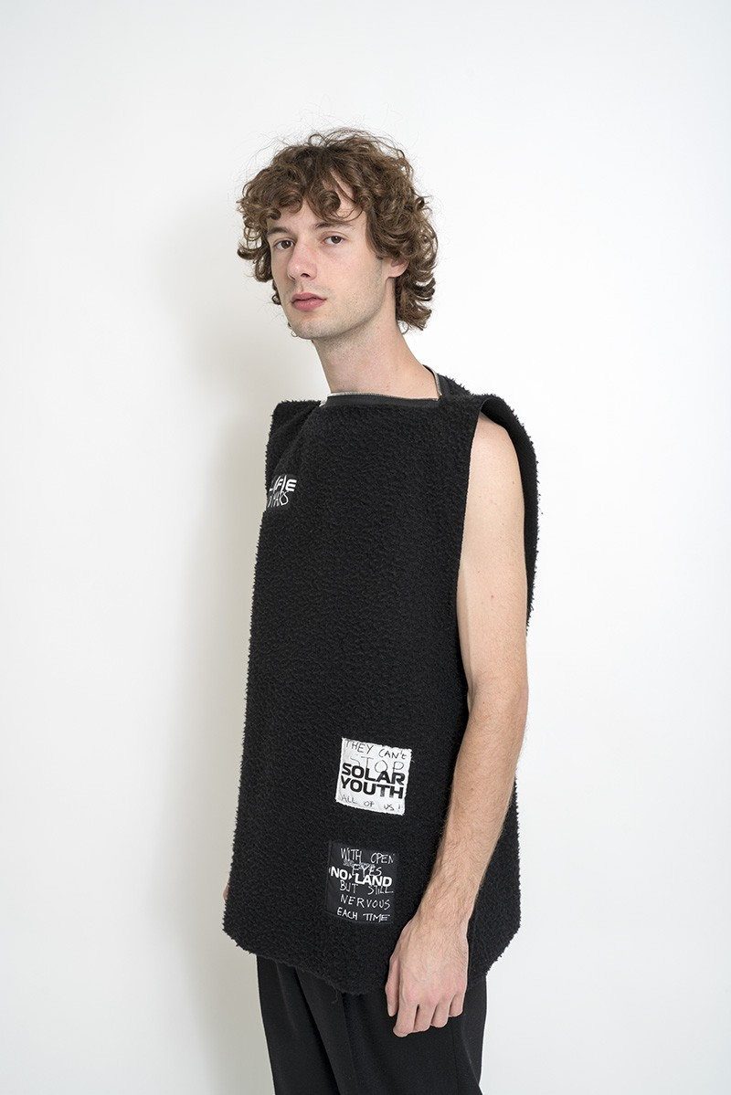 Raf Simons Zipped Punk Top In Structured
