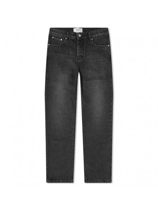 Ami Jean Tapered Fit Mid-Washed Black