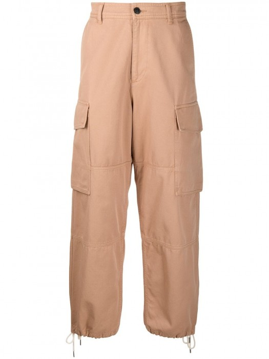 Ami Cotton Worker Fit Trousers