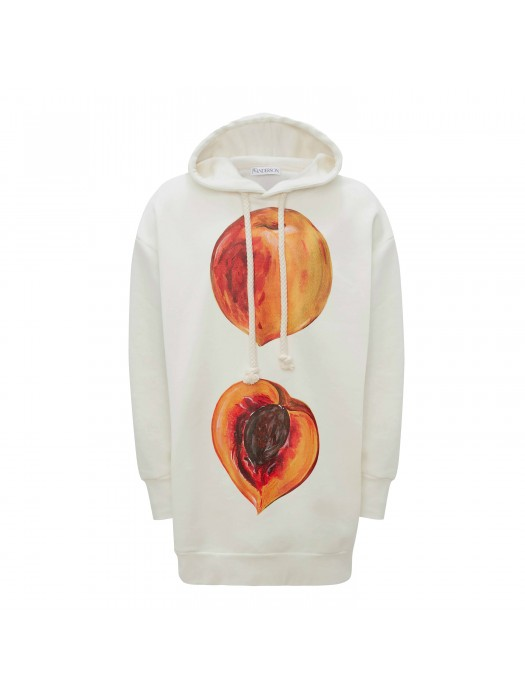 JW Anderson Oversized Peach Hoodie Off White