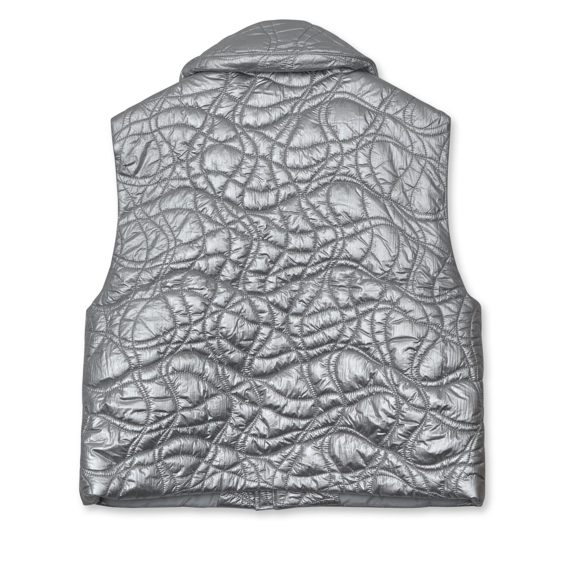 ERL Puffer Vest Woven Silver