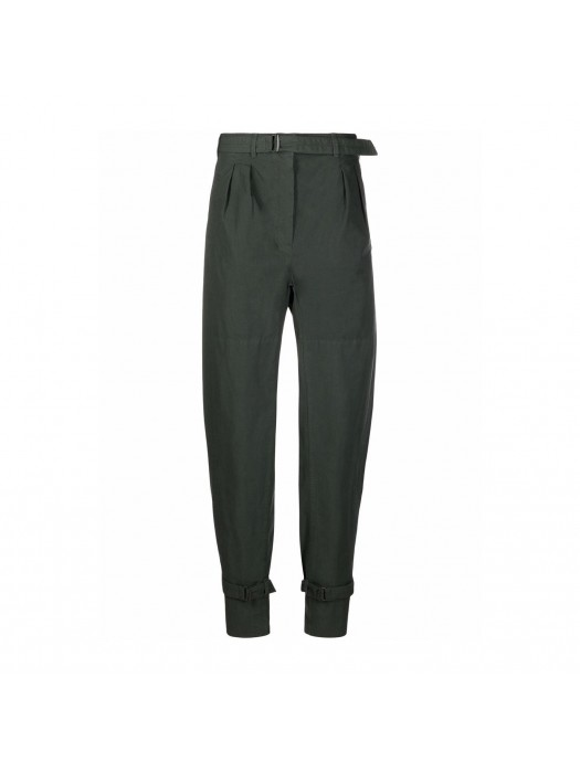 Lemaire Pleated Pants Straps Deep Forest
