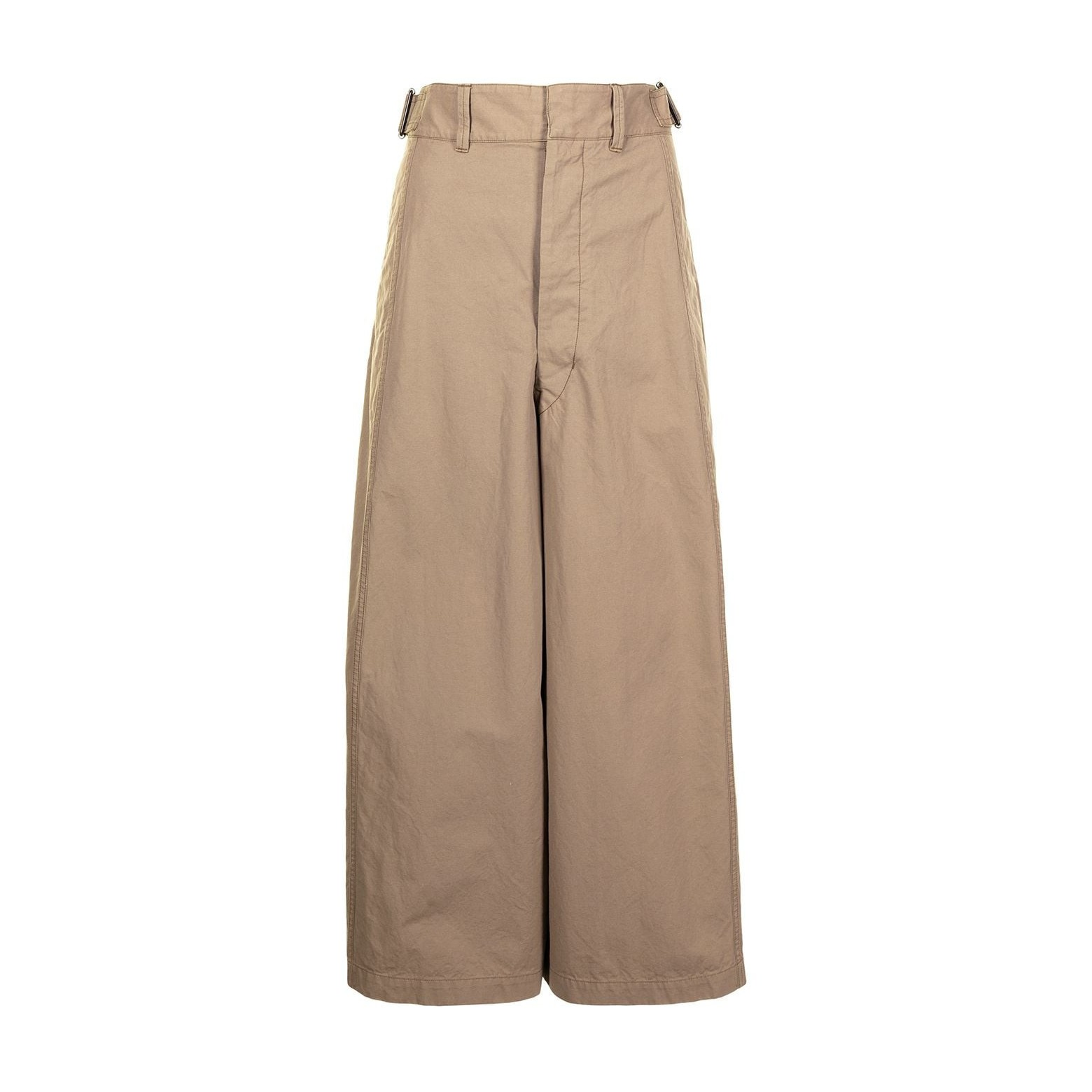 Lemaire Cropped Large Pants Dark Beige